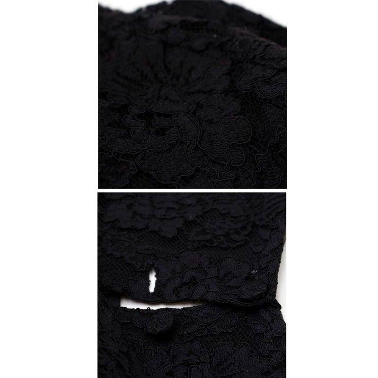 Balenciaga Lace Little Black Dress US 6 For Sale 5