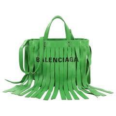 Balenciaga Laundry Cabas Tote Fringe Leather XS