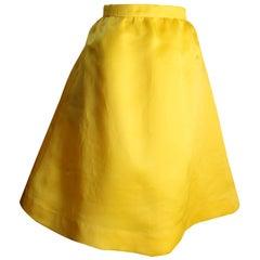 Balenciaga Le Dix Yellow Silk Skirt