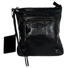 Balenciaga Leather Flat Messenger Bag