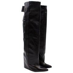Balenciaga Leather Wedge Boots 38.5