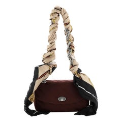 Balenciaga Lock Round Shoulder Bag Jacquard Medium