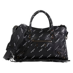 Balenciaga Logo City Classic Studs Bag Leather Small