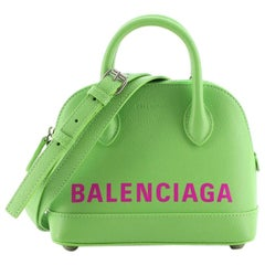 Balenciaga Logo Ville Bag Leather XXS