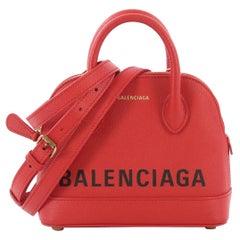 Balenciaga Logo Ville Bag Leather XXS