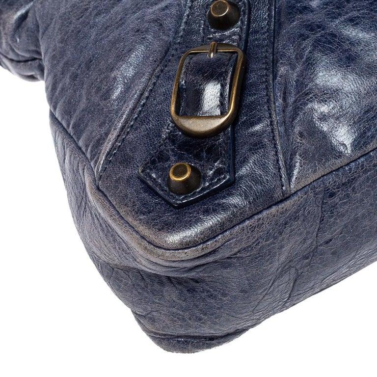 Balenciaga Marine Leather Small RH City Tote For Sale 6
