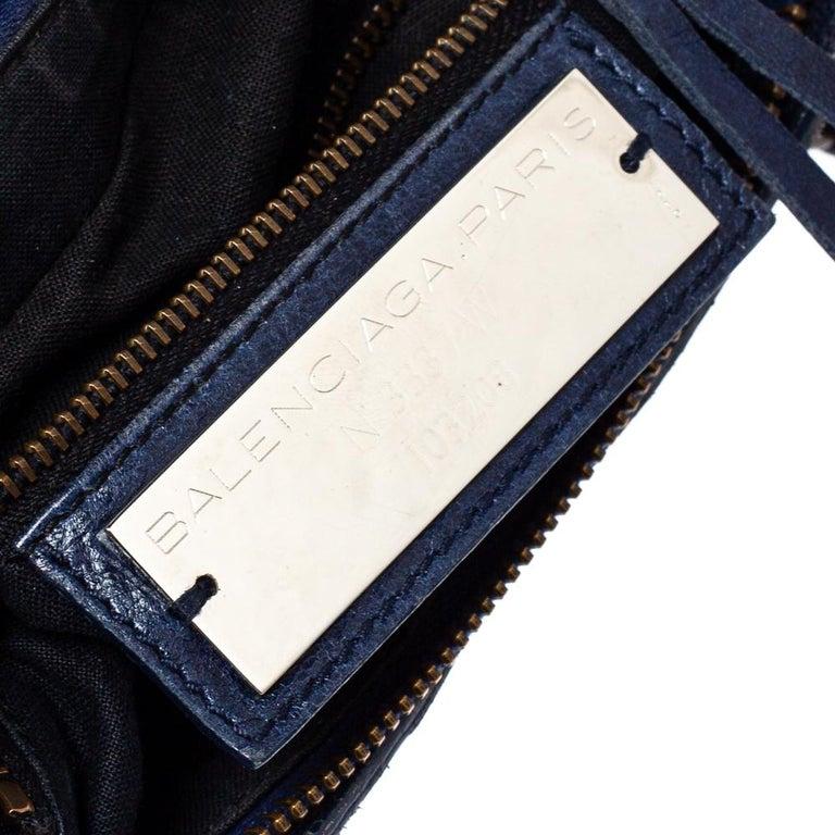Balenciaga Marine Leather Small RH City Tote For Sale 3