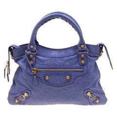 Balenciaga Mauve Leather RGH City Bag