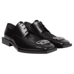 Balenciaga Bloc Rim BB Square Leather Derby Shoes Mens (43 EU)