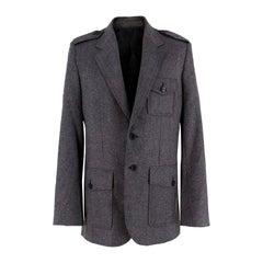 Balenciaga Men's Grey Wool Blazer - Size M EU 48