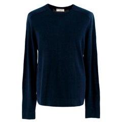 Balenciaga Men's Navy & Gray Panel Sweatshirt - Size M