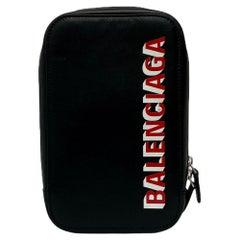 Balenciaga Mini Unisex Shoulder Bag with Red Print