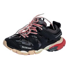 Balenciaga Multicolor Leather And Mesh Track Low Top Sneakers Size 39