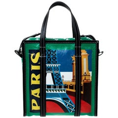 Balenciaga Multicolor Leather Bazar Paris Shopper Tote
