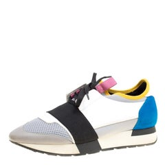 Balenciaga Multicolor Mesh And Suede Race Runner Sneakers Size 39