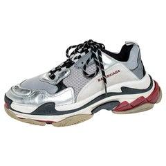 Balenciaga Multicolor Mesh Nubuck And Leather Triple S Platform Sneakers Size 45
