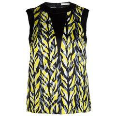 Balenciaga Multicolor Printed Sleeveless Top S