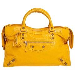 Balenciaga Mustard Leather RH City Tote