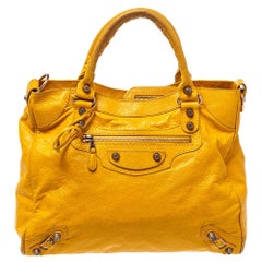 Balenciaga Mustard Leather RH Velo Tote