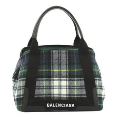 Balenciaga Navy Cabas Wool Small
