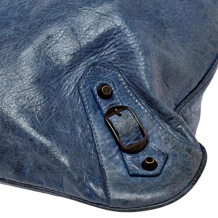 Balenciaga Ocean Leather RH Flat Messenger Bag 6