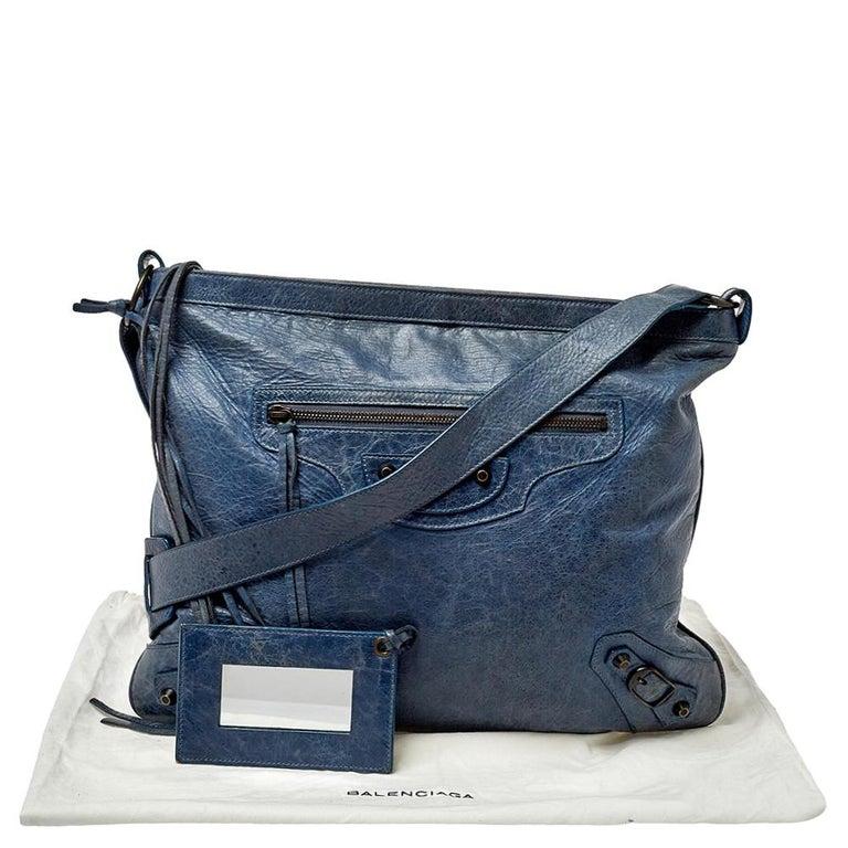 Balenciaga Ocean Leather RH Flat Messenger Bag 7