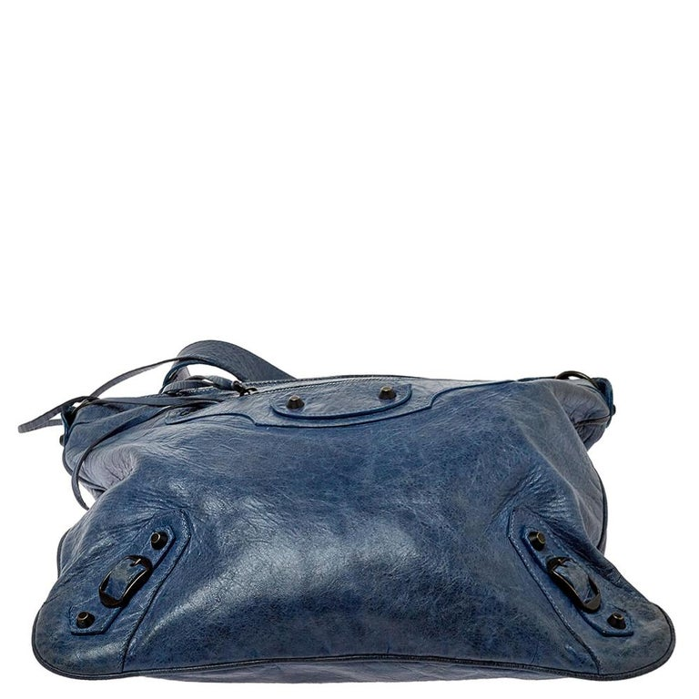 Women's Balenciaga Ocean Leather RH Flat Messenger Bag
