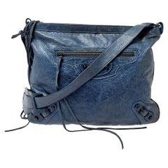 Balenciaga Ocean Leather RH Flat Messenger Bag