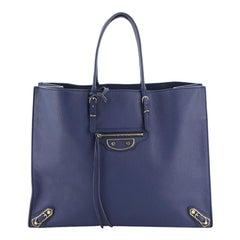 Balenciaga Papier A4 Classic Metallic Edge Bag Leather
