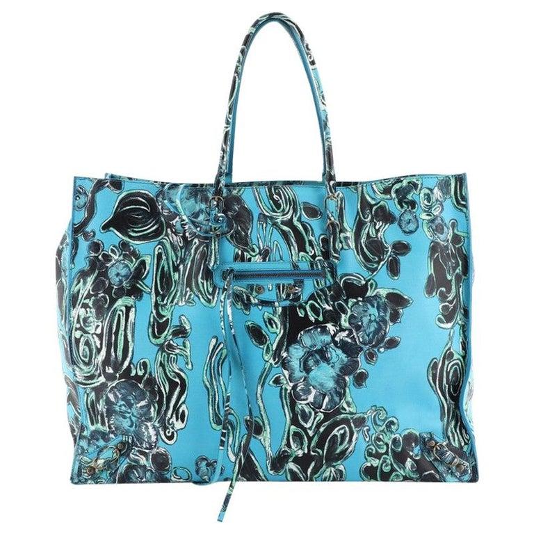 Balenciaga Papier A4 Classic Studs Bag Printed Leather Medium
