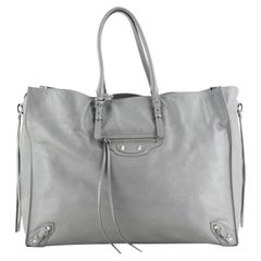 Balenciaga Papier A4 Zip Around Classic Studs Bag Leather Large