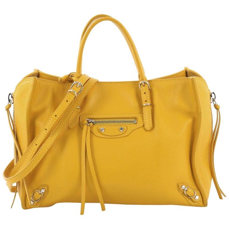 bf4593a1a62 Balenciaga Papier A4 Zip Around Classic Studs Bag Leather Mini For Sale
