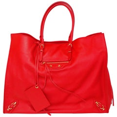 Balenciaga Papier A4 Zip-Around Tote in Red Calfskin Leather, Fall/Winter 2016