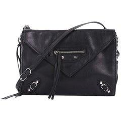 Balenciaga Papier Envelope Classic Studs Crossbody Bag Leather Small