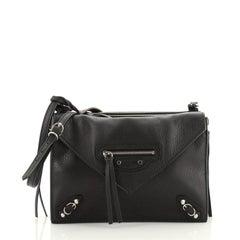 Balenciaga Papier Triple Zip Around Crossbody Bag Leather XS