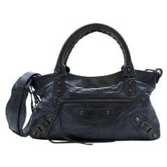 Balenciaga Paris Dark Navy Small City Bag