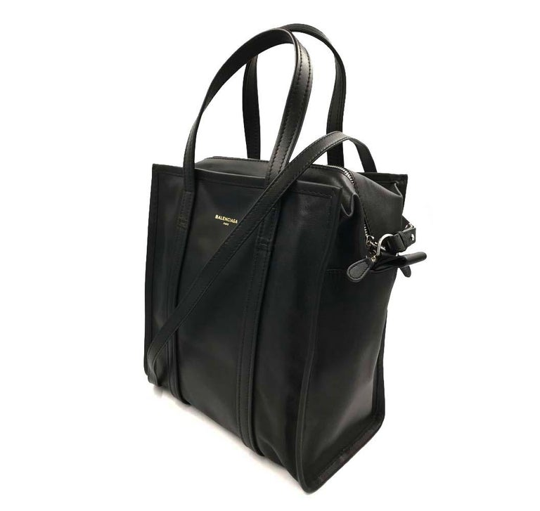 This is brand new without Tags Balenciaga Black Leather Ladies Bag.  Main Material: Leather Size: Medium Closing: Zip Closure  No Dustbag