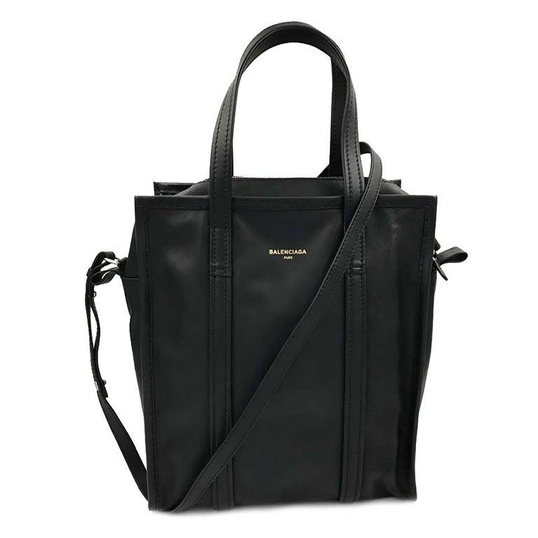 Black Balenciaga Paris Genuine Leather Ladies Handbag 443096 DL10N 1000 For Sale