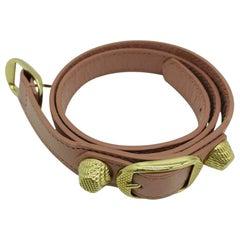 Balenciaga Pink Leather Bracelet