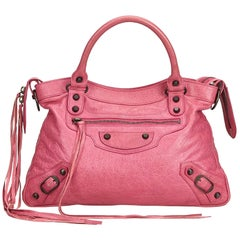 Balenciaga Pink  Leather Motocross Classic First France w/ Mirror