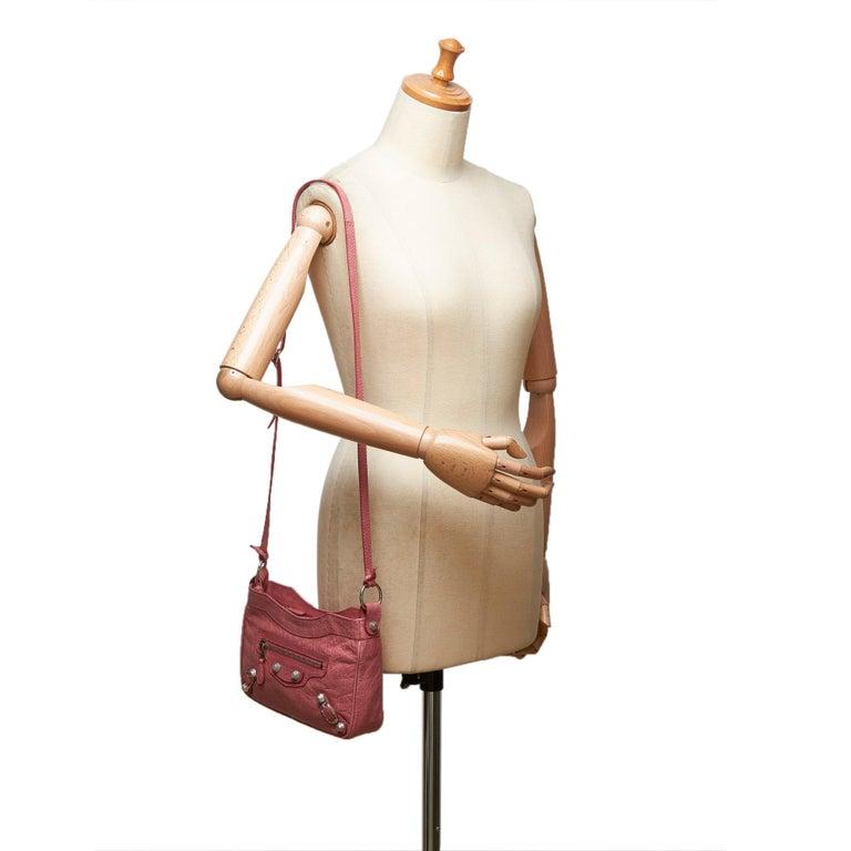 Balenciaga Pink  Leather Motocross Giant 12 Hip Bag Italy w/ Dust Bag 7