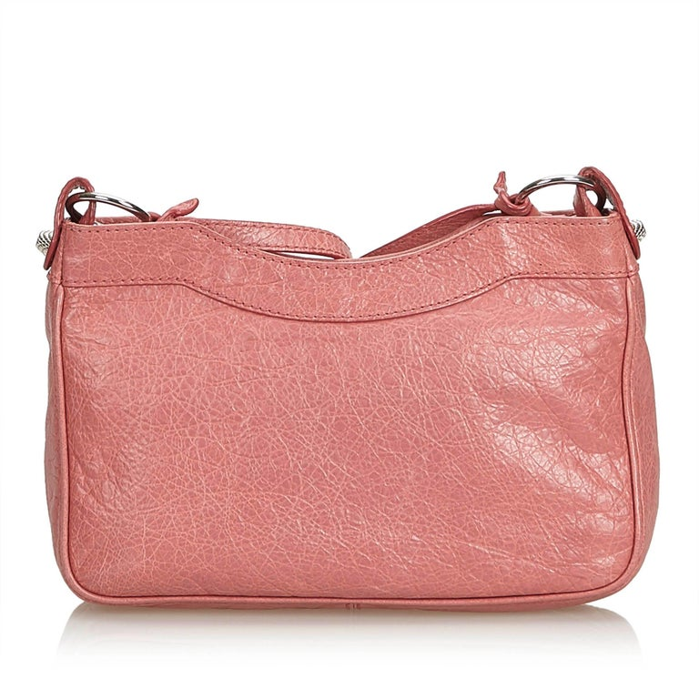 Balenciaga Pink  Leather Motocross Giant 12 Hip Bag Italy w/ Dust Bag In Good Condition In Orlando, FL