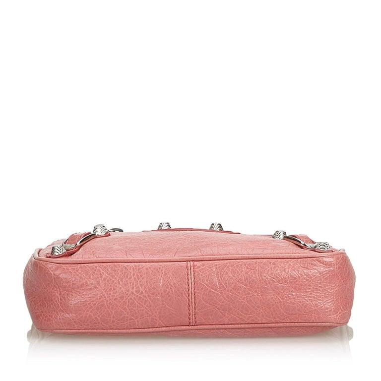 Women's Balenciaga Pink  Leather Motocross Giant 12 Hip Bag Italy w/ Dust Bag