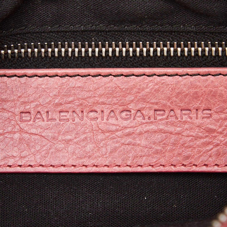Balenciaga Pink  Leather Motocross Giant 12 Hip Bag Italy w/ Dust Bag 2