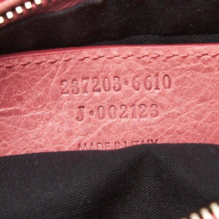 Balenciaga Pink  Leather Motocross Giant 12 Hip Bag Italy w/ Dust Bag 3