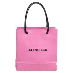 Balenciaga Pink Leather XXS North South Shopping Tote