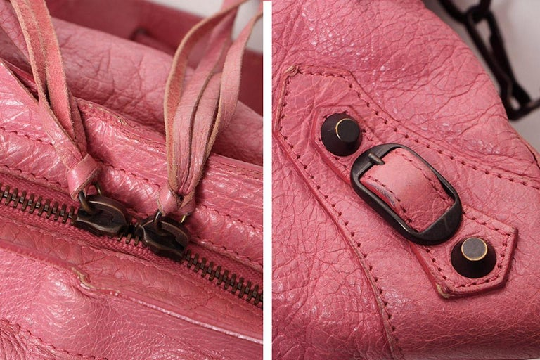 75f397844ca Balenciaga Pink Motocross Classic City In Good Condition For Sale In Los  Angeles, CA