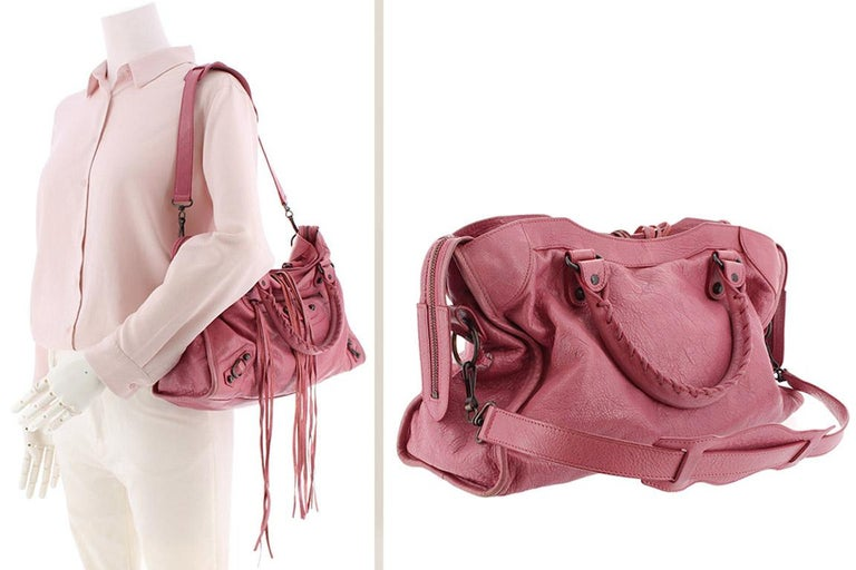 53f027ae799 Balenciaga Pink Motocross Classic City For Sale at 1stdibs