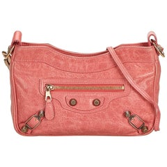 Balenciaga Pink Motocross Giant 12 Hip Bag