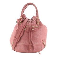 Balenciaga  Pom Pon Giant Studs Bag Leather